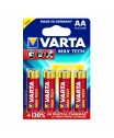 Varta Max Tech AA, LR6, AM3, MN1500 1,5 Volt alkáli tartós ceruza elem