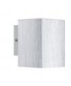 EGLO 93126 MADARAS fali lámpa 1×3W GU10 led izzóval,alumínium színű,szögletes