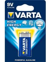 VARTA HIGH ENERGY 9 Volt, 6LR6, MN1604 ALKÁLI TARTÓS ELEM BLISZTERES