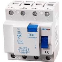 Áramvédő 25A 4P 100MA életvédelmi FI-relé  3 Fázisú  4 Pólusú  100 Milliamperes