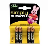 Duracell Simply AAA, LR03, AM4, MN2400 1,5 Volt alkáli tartós mikro elem
