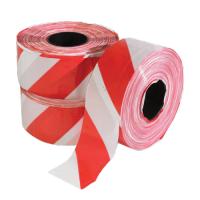 Jelzőszalag 8cm széles kétoldalon piros-fehér, 901 munkavédelmi terelő és jelölőszalag 100 m