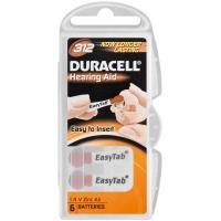 Duracell Easy Tab Activair Hearing Aid, ZA312, DA312 N6, PR41, AC312 tartós Levegő-cink hallókészülék elem, behelyezést segítő füllel