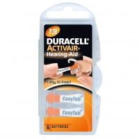 Duracell Easy Tab Activair Hearing Aid, ZA13, DA13 N6, PR48, AC13 tartós Levegő-cink hallókészülék elem, behelyezést segítő füllel