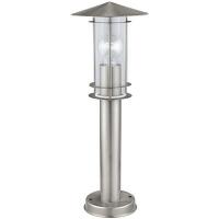EGLO 30187 LISIO kültéri álló lámpa 1×60W E27 inox/átlátszó búra,50 cm magas