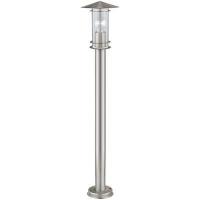 EGLO 30188 LISIO kültéri álló lámpa 1×60W E27 inox/átlátszó búra,100 cm magas
