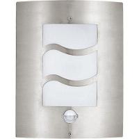 EGLO 30194 CITY kültéri fali lámpa szenzoros 1×15W E27 inox/fehér műanyag 23×30cm