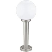 EGLO 30206 NISIA kültéri álló lámpa 1×60W E27 matt króm/fehér gömb búrával