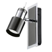 EGLO 30832 DAVIDA szpot lámpa 1×5W GU10 meleg fehér led izzóval szerelve,fekete/króm,kapcsolóval