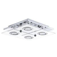EGLO 30931 CABO mennyezeti lámpa 4×2,5W led,króm/fehér üveg,négyszög 29×29 cm