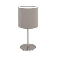 EGLO 31595 PASTERI textil asztali lámpa E27 60W szürkésbarna színű búrával