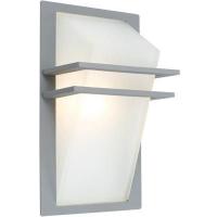EGLO 83432 PARK kültéri fali lámpa 1×60W E27 ezüst/fehér üveg búrával,35×20cm