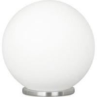 EGLO 85264 RONDO asztali lámpa 1×60W E27 matt króm/fehér opál gömb búra 20 cm átmérőjű