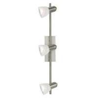EGLO 86215 ARES szpot lámpa 3×40W E14 matt króm/alabástrom búrával