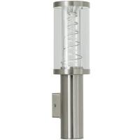 EGLO 88121 TRONO kültéri fali lámpa 2×50W GU10,inox/átlátszó búra fém spirállal