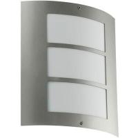 EGLO 88139 CITY kültéri fali lámpa 1×15W E27 inox/fehér műanyag 24×27cm