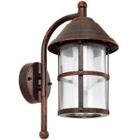 EGLO 90184 SAN TELMO kültéri fali lámpa lefelé álló 1×60W E27 antik barna/átlátszó búra