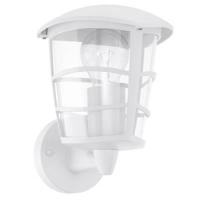 EGLO 93094 ALORIA kültéri fali lámpa,felfelé álló 1×60W E27 fehér/átlátszó műanyag búra