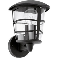 EGLO 93097 ALORIA kültéri fali lámpa,felfelé álló 1×60W E27 fekete/átlátszó búra