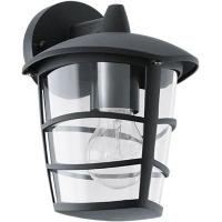 EGLO 93098 ALORIA kültéri fali lámpa,lefelé álló 1×60W E27 fekete/átlátszó búra
