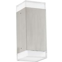 EGLO 93364 TABOLED kültéri fali lámpa 2×2,5W meleg fehér leddel szerelve,380lm,inoxfehér búrával