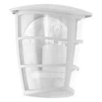EGLO 93403 ALORIA kültéri fali lámpa 1×60W E27 fehér/átlátszó műanyag búra