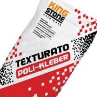 KingStone Texturato Poli-Kleber hőszigetelő polisztirol ragasztótapasz homlokzati, lábazati és grafitos szigeteléshez 25 kg