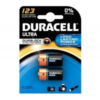 Duracell Ultra Photo CR 123 lítium fotó és elemlámpa elem 3 Volt