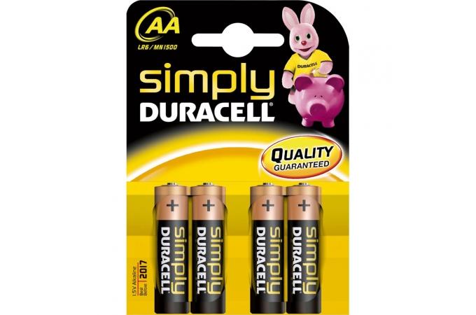 Duracell Simply AA, LR6, AM3, MN1500 1,5 Volt alkáli tartós ceruza elem