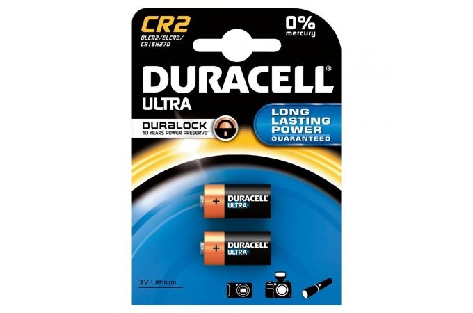 Duracell Ultra Photo CR2, DLCR2, ELCR2, 3 volt, tartós lítium fotó elem